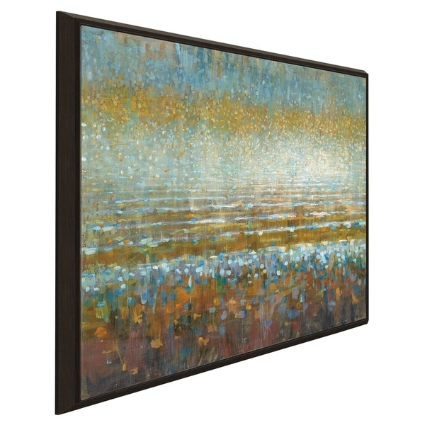 """""""Rains over the Lake"""" Print on Canvas in Floating Frame"""