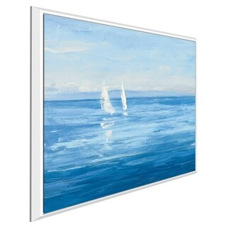 """""""Open Sail with Turquoise II"""" by Julia Purinton Print on Canvas in Floating Frame"""