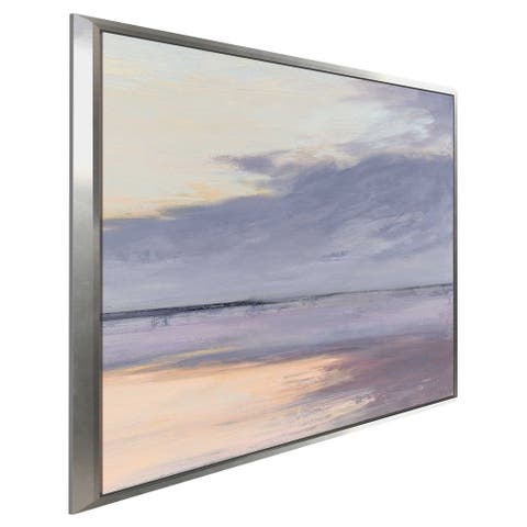 """""""Shore I"""" by Julia Purinton Print on Canvas in Floating Frame"""