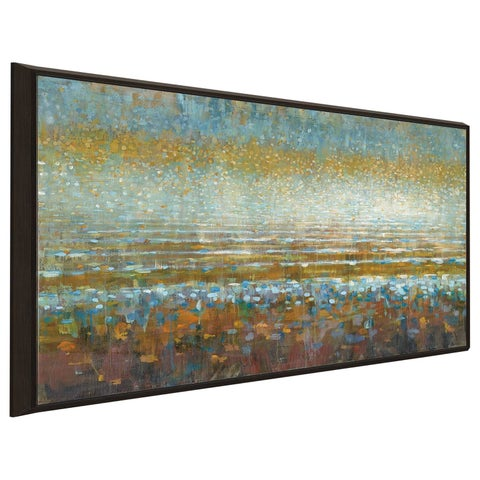 """""""Rains over the Lake IV"""" Print on Canvas in Floating Frame"""