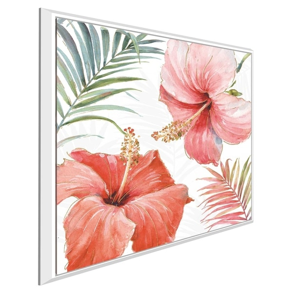 """Tropical Blush III"" by Lisa Audit Print on Canvas in Floating Frame"