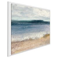 """Indigo Isle II"" by Julia Purinton Print on Canvas in Floating Frame"