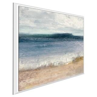 """Indigo Isle II"" by Julia Purinton Print on Canvas in Floating Frame"