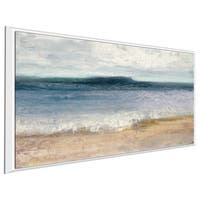 """""""Indigo Isle"""" by Julia Purinton Print on Canvas in Floating Frame"""