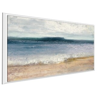 """Indigo Isle"" by Julia Purinton Print on Canvas in Floating Frame"