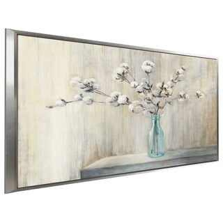 """Cotton Bouquet"" by Julia Purinton Print on Canvas in Floating Frame"