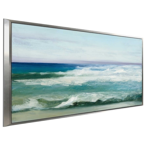 """""""Azure Ocean"""" by Julia Purinton Print on Canvas in Floating Frame"""
