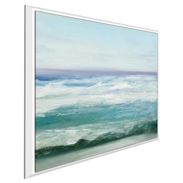 """""""Azure Ocean I"""" by Julia Purinton Print on Canvas in Floating Frame"""