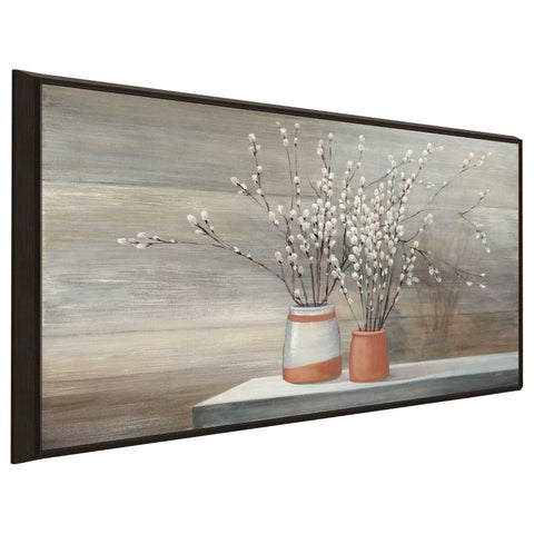 """""""Willow Still Life"""" by Julia Purinton Print on Canvas in Floating Frame"""