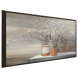 """Willow Still Life"" by Julia Purinton Print on Canvas in Floating Frame"