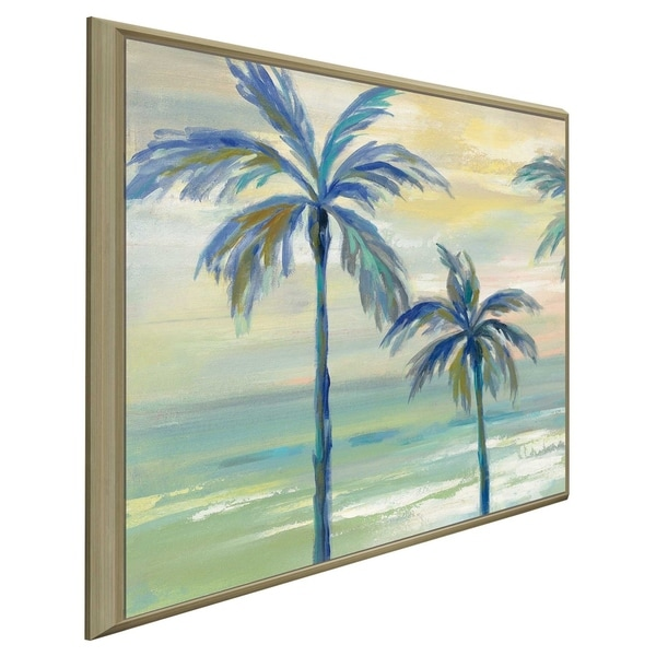"""""""Marine Layer Palms I"""" by Silvia Vassileva Print on Canvas in Floating Frame"""