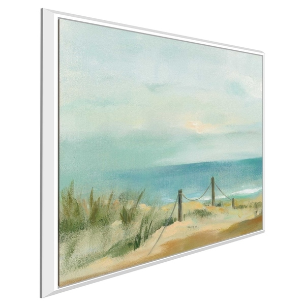 """""""Serenity on the Beach II"""" by Silvia Vassileva Print on Canvas in Floating Frame"""