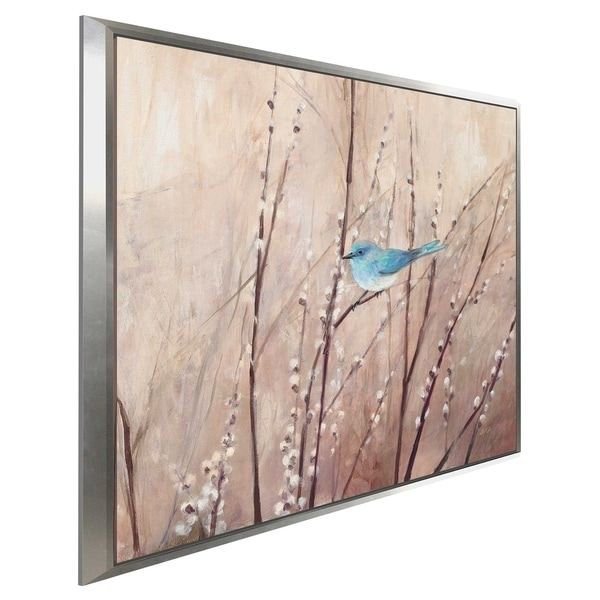 """""""Pretty Birds I"""" by Julia Purinton Print on Canvas in Floating Frame"""