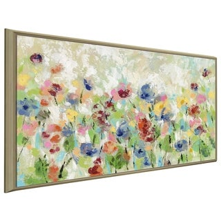"""Springtime Meadow Flowers"" by Silvia Vassileva Print on Canvas in Floating Frame"
