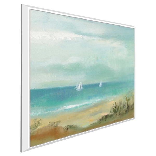 """Serenity on the Beach I"" by Silvia Vassileva Print on Canvas in Floating Frame"