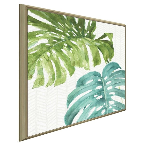 """""""Mixed Greens LXXVI"""" by Lisa Audit Print on Canvas in Floating Frame"""