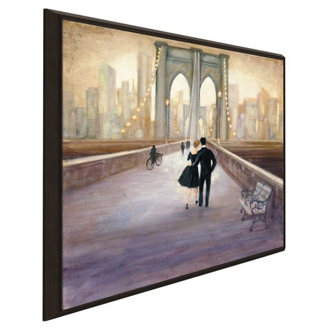 """""""Bridge to NY"""" by Julia Purinton Print on Canvas in Floating Frame"""