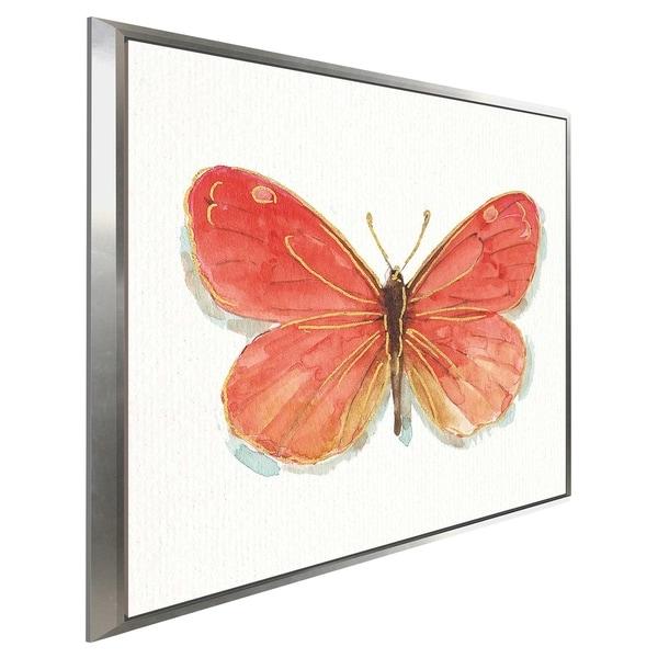 """Rainbow Seeds Butterflies IIC"" by Lisa Audit Print on Canvas in Floating Frame"