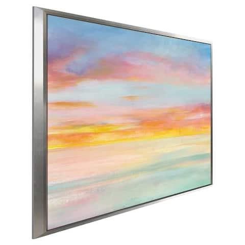 """Pastel Sky I"" Print on Canvas in Floating Frame"