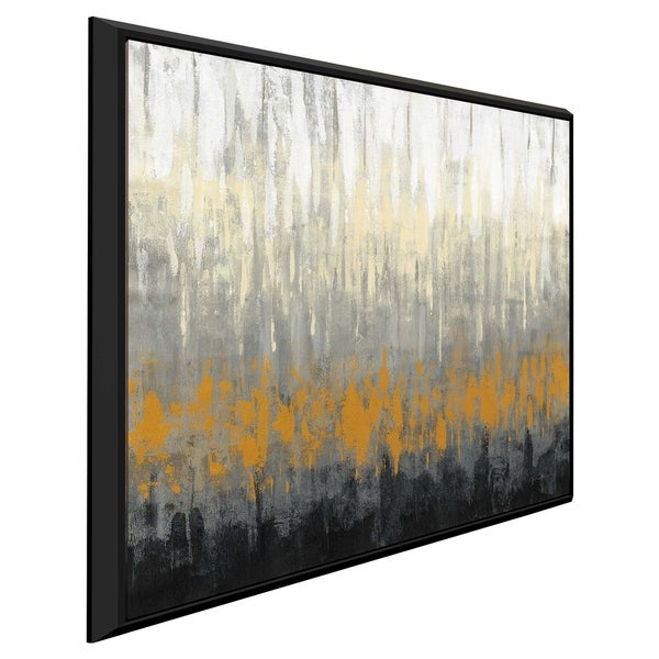 """Rain on the Asphalt"" by Silvia Vassileva Print on Canvas in Floating Frame"