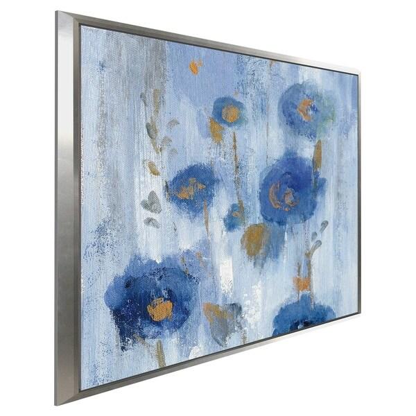 """Seaside Flowers IIA"" by Silvia Vassileva Print on Canvas in Floating Frame"