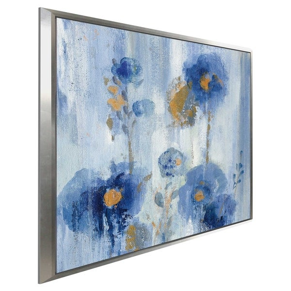 """Seaside Flowers IA"" by Silvia Vassileva Print on Canvas in Floating Frame"