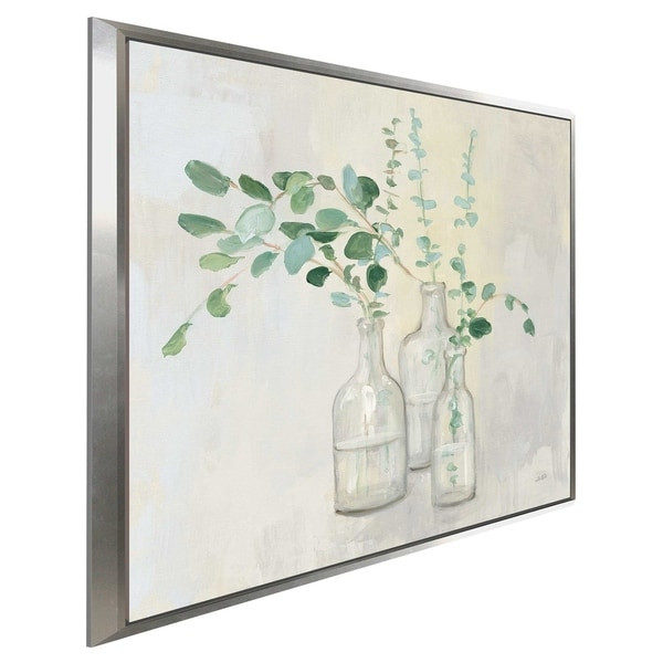 """""""Summer Cuttings I"""" by Julia Purinton Print on Canvas in Floating Frame"""
