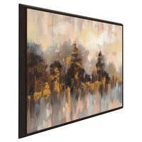"""Blushing Forest II"" by Silvia Vassileva Print on Canvas in Floating Frame"