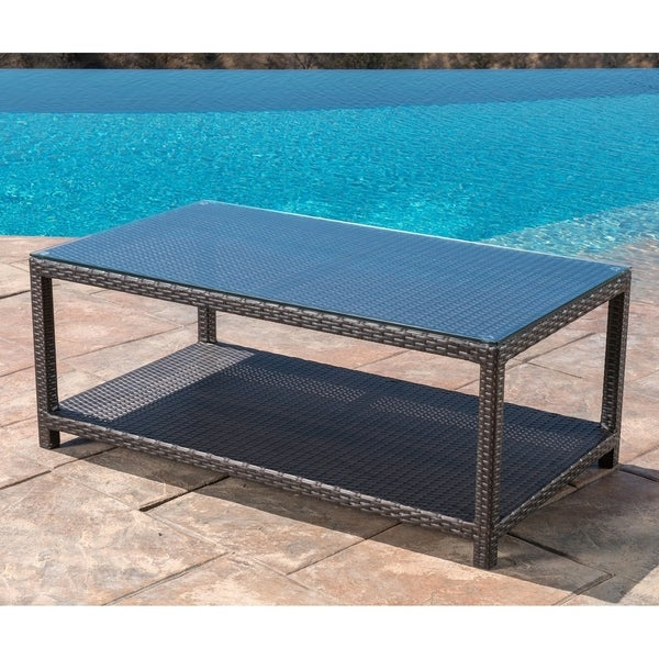 Shop Abbyson Monty Outdoor Coffee Table On Sale Free Shipping