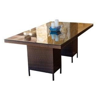 Abbyson Monty Espresso Outdoor Dining Table