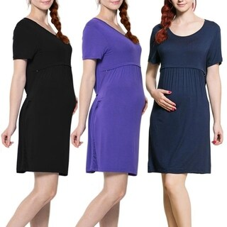 Maternity & Zippered Nursing Dress