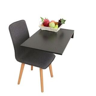 ALEKO Wall Mounted Folding Table Kitchen Desk 27.5 x 18 x 12 Inches