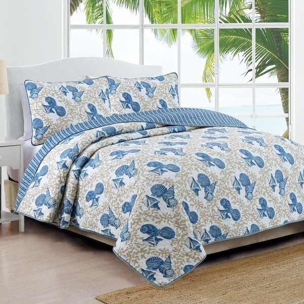 Coastal Design Tybee Quilt Set - Multi-color
