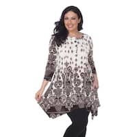 White Mark Plus Size 'Sapphira' Tunic