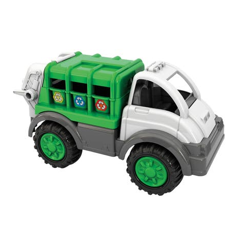 American Plastic Toys Gigantic Recycling Truck 4-Pack