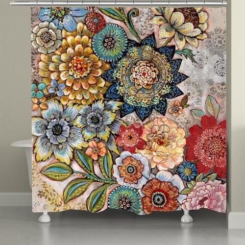 Laural Home Bohemian Bouquet Shower Curtain - Multi-color