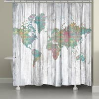 Laural Home Bohemian Maps Shower Curtain