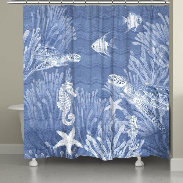 Shop Laural Home Waves At The Ocean Shower Curtain