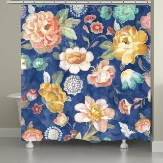 Laural Home Colorful Blooms Shower Curtain