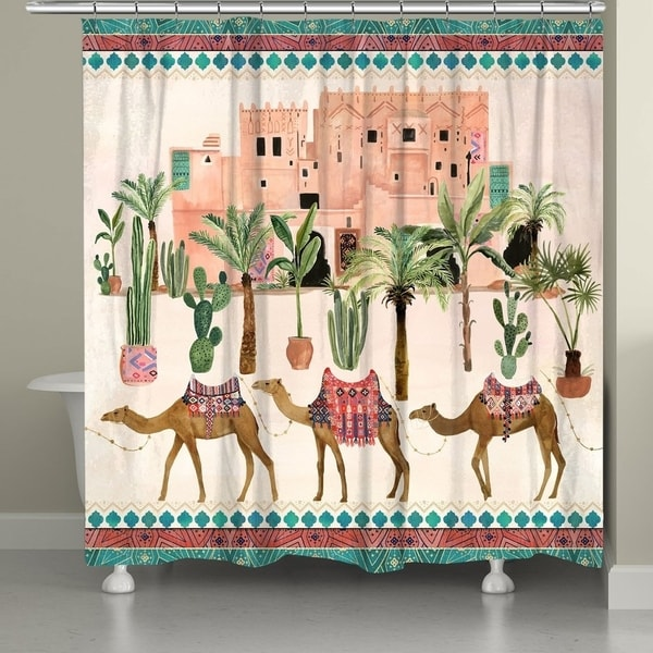 Shop Laural Home Elegant Camels Shower Curtain