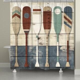 Laural Home Coastal Oars Shower Curtain