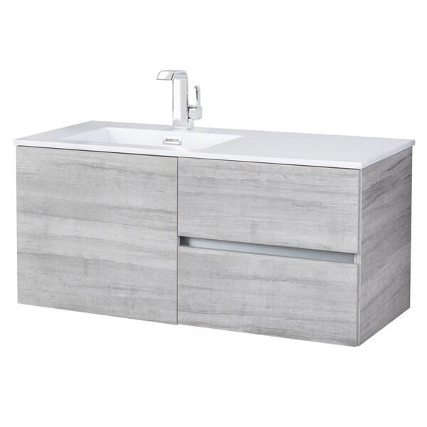 Beachwood Collection Soho 42 Inch Wall Mount Modern Bathroom Vanity