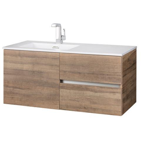 "Beachwood Collection 42"" Wall Mount Modern Bathroom Vanity - Shanshu"