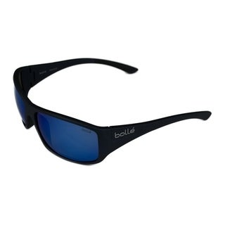 Bolle Mens Kingsnake Matte Blue w/ Polarized Offshore Blue Lens Sunglasses