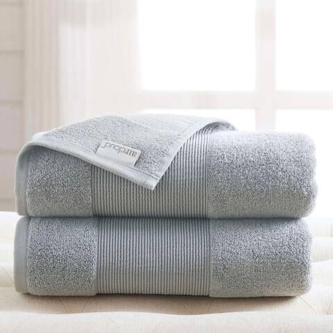 Modern Threads Air Cloud 2-Pack Oversized Bath Sheet Set