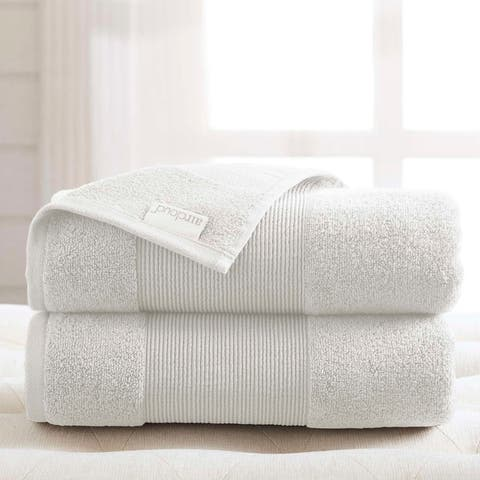 Modern Threads Air Cloud 2-Pack Oversized Bath Sheet Set