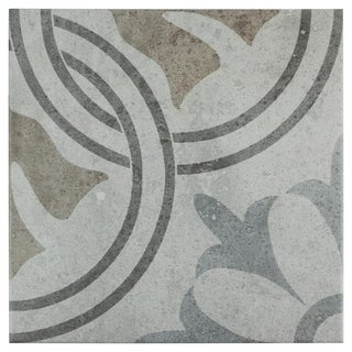SomerTile 13.125x13.125-inch Asturias Perla Valencia Ceramic Floor and Wall Tile (9 tiles/10.76 sqft.)
