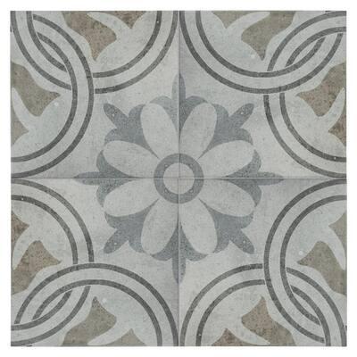 "SomerTile Llanes Perla Valencia Encaustic 13.13"" x 13.13"" Ceramic Floor and Wall Tile"
