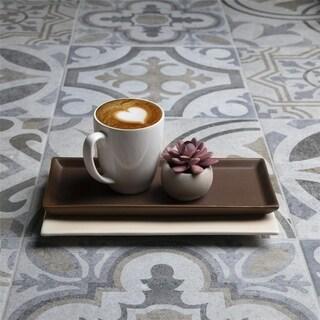 SomerTile 13.125x13.125-inch Asturias Perla Sevilla Ceramic Floor and Wall Tile (9 tiles/11.18 sqft.)