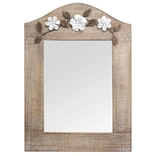 Stratton Home Decor Belle Mirror - White Washed